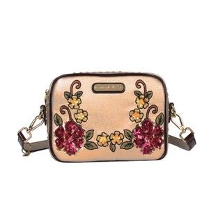 ✤  Nicole Lee Sequin Floral Crossbody Bag